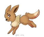 Eevee used tackle by space-sammy