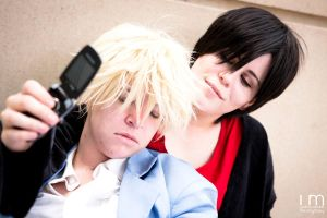 Graduation Day - HS! Shizaya Cosplay by cloudsofsand