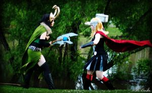 Loki vs Thor by BOiKEM