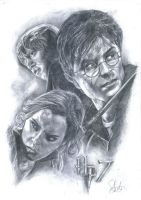 Pencil Sketching-Harry Potter by PrinceFen