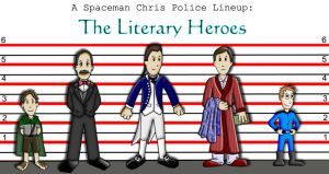 Police Lineup: Literary Heroes by Spaceman-Chris