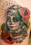 day of the dead tattoo 5 by mojoncio