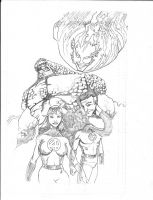 Fantastic 4 pencils by LangleyEffect