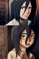 Screen Cap Redraw: Mikasa. by MissMondayMourning