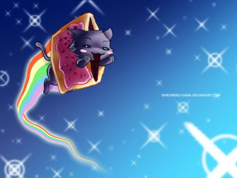 Pop Tart Cat FTW by ShiroiNeko-sama