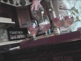 the making of rasberry discolored vodka of summer by sebbylover231