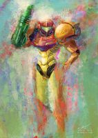 Samus by Sinhra