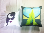 Luna and Chysalis Limited Edtion Cushion Back side by Kardien