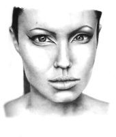 Angelina Jolie Portrait by Kighto