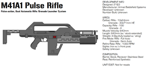 Armat M41A1 Pulse Rifle by GrimReaper64