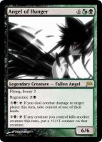Angel of Hunger Magic Card by deathangel20