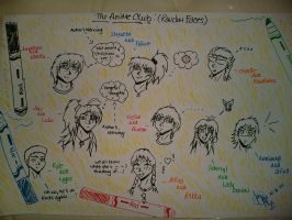The Entire Anime Club by InkAJen