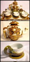 Steam Punk Tea Set by Lascaux