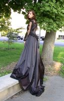 Black Ballgown Terra 12 by Falln-Stock