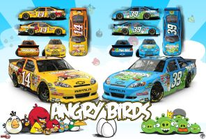 Angry Birds Racing Poster by graphicwolf