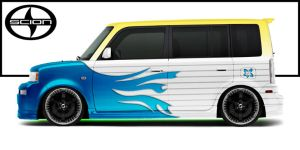 Skin a Scion xB by thesuper