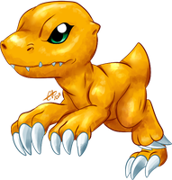 Agumon. by BritishStarr