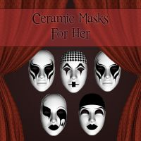 Ceramic Masks For Her by zememz