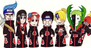 Akatsuki Straw Hats by A-A-Fresca