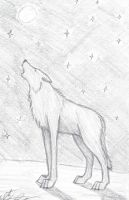 Howling wolf by Howling-Wolf