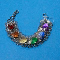 Clear with Rainbow Scale Bracelet by DracoLoricatus