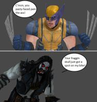Injustice: Wolverine vs Lobo by xXTrettaXx