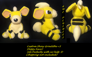 Custom Shiny Growlithe Sold by Ami-Plushies