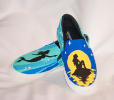 The Little Mermaid Disney Slip Ons by HungryxHungryxHippos