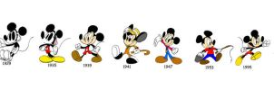 Mickey Though the Years by WaggonerCartoons