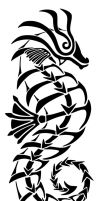Tribal Tattoo: Seahorse by nerds2x2ever