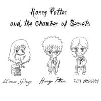 Chamber of Secrets Chibis by TheAllPowerfulBunny