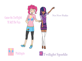 Pinkiepie and Twilight Sparkle by Mattmankoga