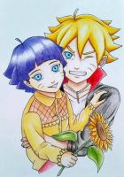Boruto and Himawari Uzumaki - The new Generation  by AjkaSketch
