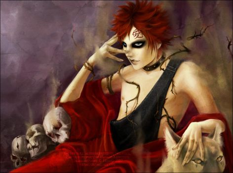 Gaara:Tame Darkness by tenaku