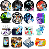 MLP FIM icon pack by Blueshadowthewolf
