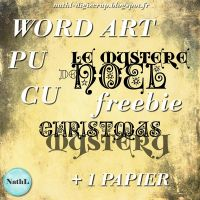 Christmas word art and paper by NathL-fr