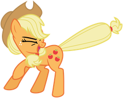 Applejack Speed Vector by flutterguy317