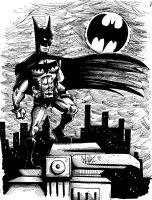 Batman by OuthouseCartoons
