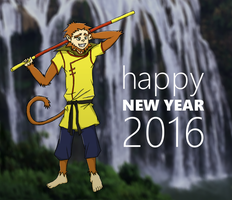 Sun Wukong wishes a happy new year by yishn