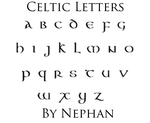Celtic Letters by Nephan