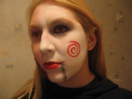 Jigsaw Puppet make up by sazmullium