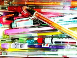 Gel Pens. by lostinstinct