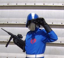 Cobra Commander with Gun by FraterSINISTER