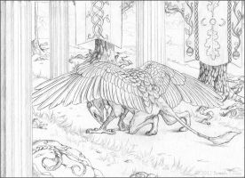 Allegiance - Pencil by windfalcon