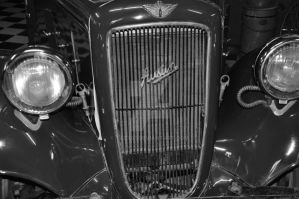 front of the car black and white by tazy01