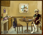 Sachiko in her dorm by masaothedog
