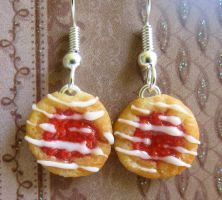 Cherry Danish Earrings by LittleSweetDreams