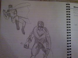 Nightwing and Robin by shaman-from-serbia