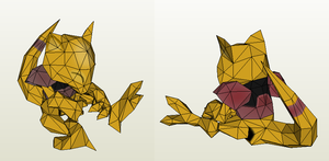 Papercraft - Abra by Jyxxie