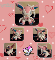 Valentine's Day Sylveon :Sold: by Ami-Plushies